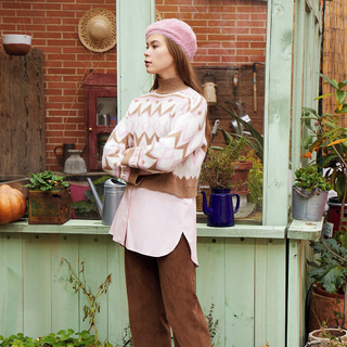 🌷My secret garden vibes🌷    #andmeunlimited #AW2021 #ootdinspiration #HOMEwear #knitwear #garden #pink #green #outdoor #flowers #prints